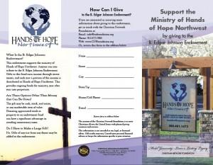 B Edgar Johnson Endowment Fund Front page