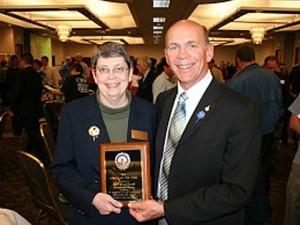 Liz Murtland - Citizen of the Year, 2010 - with Mayor Tom Dale